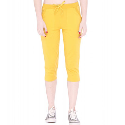 Soothing Yellow Capri Pants