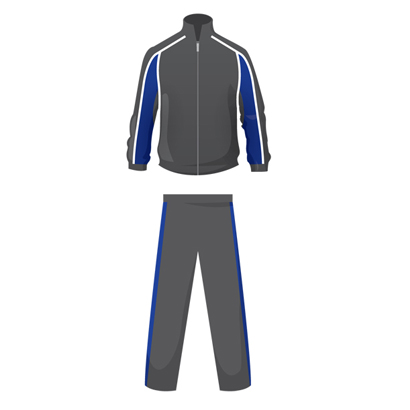 Dark Grey And Blue Personalized Tracksuit