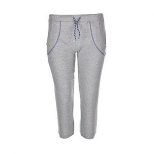 Grey Structured Fitness Capri Wholesale