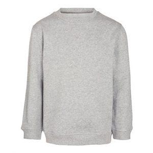 Grey Coloured Plain Sweatshirt Wholesale