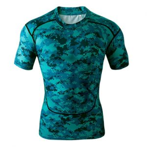 Wholesale Multi Print Structured Fitness T Shirt