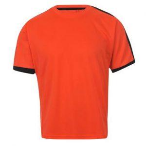 Bright Orange Slim Fit Fitness T Shirt