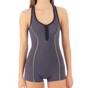 Grey Sleeveless Swimming Costume Wholesale