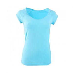 Light Blue Women Fitness T Shirt Wholesale