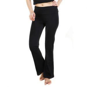 Wholesale Black Wide Leg Fitness Pants For Women
