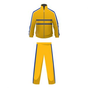 Yellow And Blue Customized Tracksuit