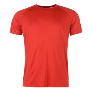 Bright Red Fitness T Shirt Wholesale