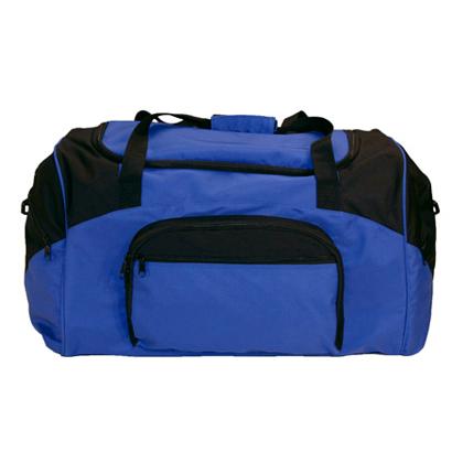 Bright Blue & Black Gym Bag Wholesale