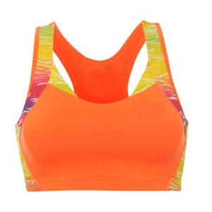 Orange Printed Sports Bra Wholesale