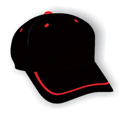 Black & Red Baseball Cap Wholesale