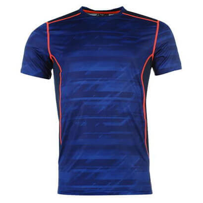 Electric Blue Fitness T Shirt Wholesale