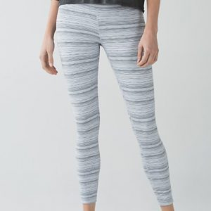Grey & White Printed Yoga Pants (Long) Wholesale