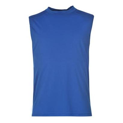 Blue Crew Neck Gym T Shirt