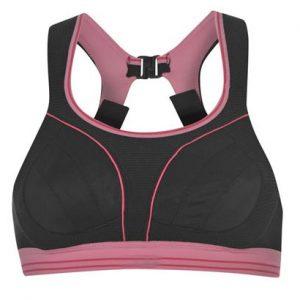 Pink Black Clip Back Sports Bra Wholesale