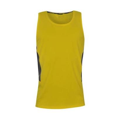 Wholesale Mustard Yellow Womens Sleeveless Running Vest image