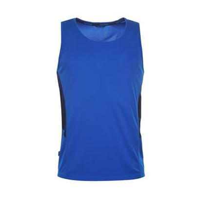 Wholesale Deep Blue Sleeveless Running Vest For Women image