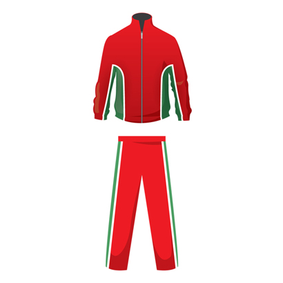 Tomato Red And Green Custom Jogging Suit