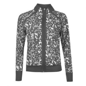 Black and White Print Sports Tracksuit Top Wholesale