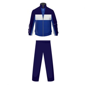 Blue And White Dual Shaded Custom Personalized Tracksuit