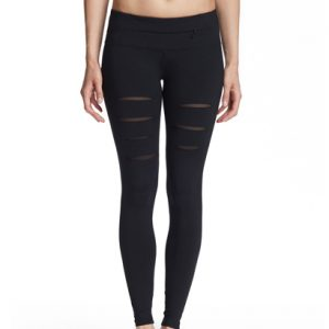Wholesale Black Lacerated Fitness Pants for Women