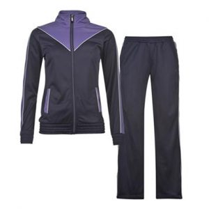 Dark Blue and Mauve Sports Tracksuit Wholesale