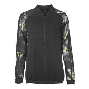 Greyish Black with Print Sports Tracksuit Top Wholesale