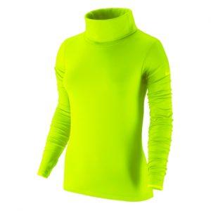 Neon Green Turtleneck Compression Pullover Wholesale