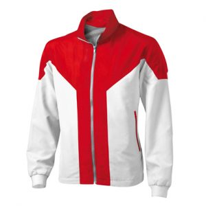 Wholesale Hot Red and White Microfiber Tracksuit