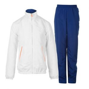 White and Blue Sports Tracksuit Wholesale