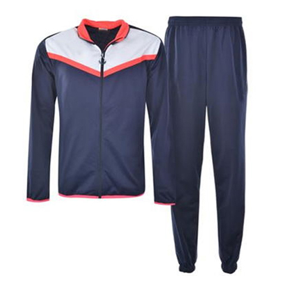 Navy Blue with white and Peach Detailing Track Suit Wholesale