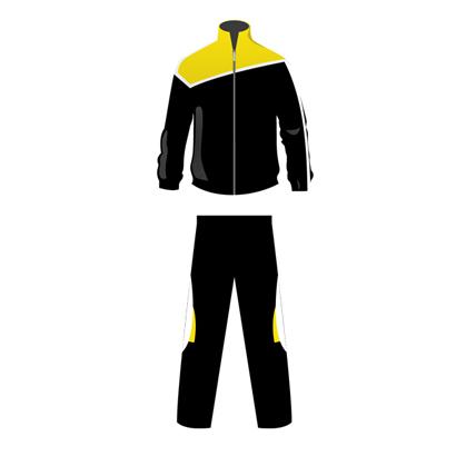 Black And Yellow Custom Velour Tracksuit