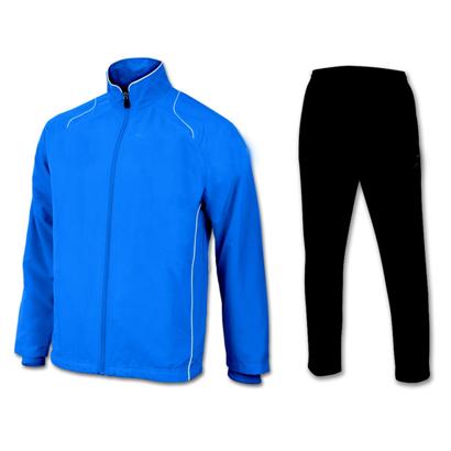 Electric Blue and Black Microfiber Tracksuit Wholesale