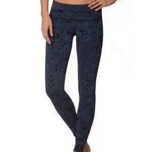 Wholesale Pencil Grey Printed Fitness Leggings for Women