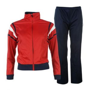 Wholesale Red and Dark Blue Sports Tracksuit