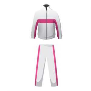 White and Pink Soothing Custom Tracksuit