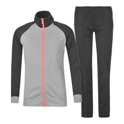 Grey and Black Sports Tracksuit Wholesale