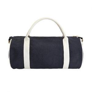 Navy Blue & White Drum Bag Wholesale