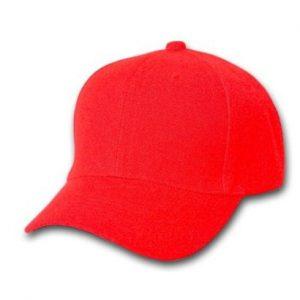 Bright Red Baseball Cap Wholesale