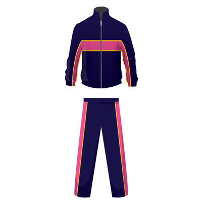 Navy Blue and Pink Custom Tracksuit Bottom