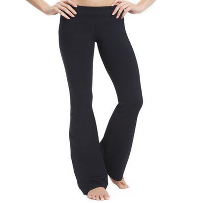 Wholesale Simple Black Boot Leg Pants for Women