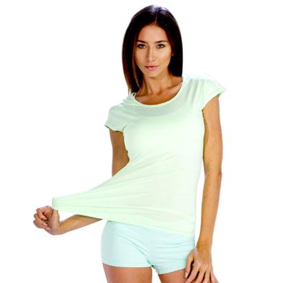 Cap Sleeve Light Sky Tee with Shorts Wholesale