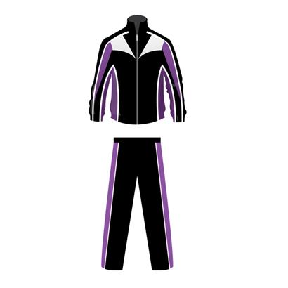 Black and Violet Custom Team Tracksuit
