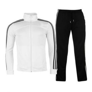 White and Black Sports Tracksuit Wholesale