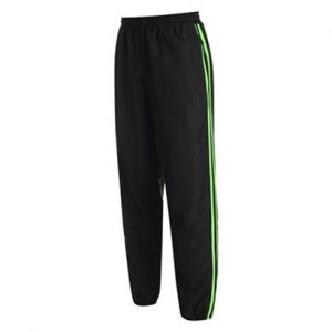 Black and Neon Green Track Pant Wholesale