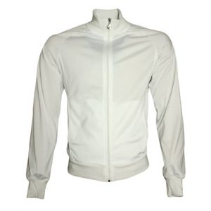 Pure White Sports Tracksuit Top Wholesale