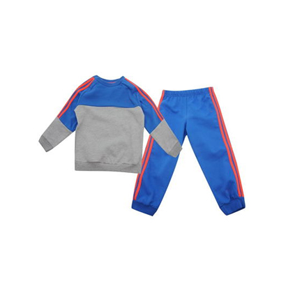 Wholesale Grey And Cool Blue Kids Fitness Clothing image