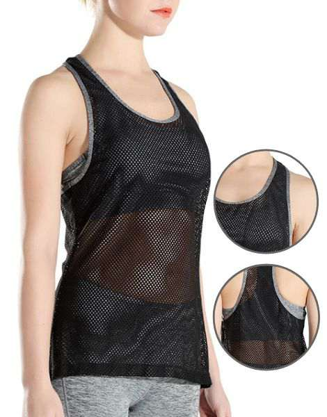 Wholesale Black Mesh Fitness Tank Top Manufacturers USA