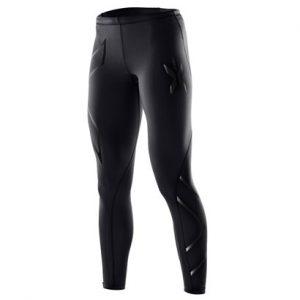 Black Textured Compression Pants Wholesale