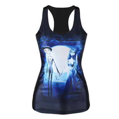 Black with Print Panel Women Fitness T Shirt Wholesale