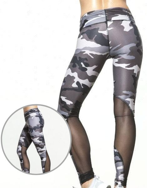 Wholesale Camo Print Paneled Sublimated Leggings Manufacturers UK